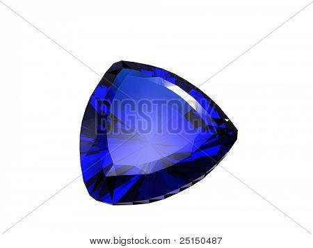 Jewelry gems shape of trillion. Sapphire