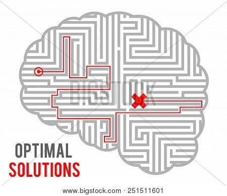 Brain Intricacy Optimal Decision Making Solutions Abstract Labyrinth Maze Geometric Monochromatic Ba