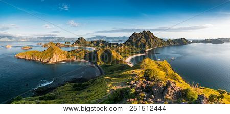 Top View Of Padar Island In A Morning From Komodo Island (komodo National Park), Labuan Bajo, Flores