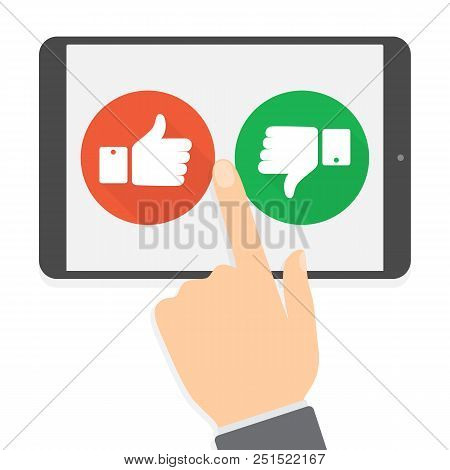 Feedback Concept. People Leave Feedback And Comment Content. Idea Of Customer Review. Positive And N
