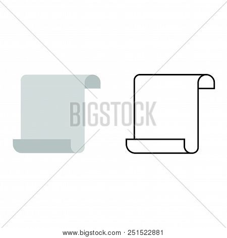 Scroll Vector Icons On A White Background