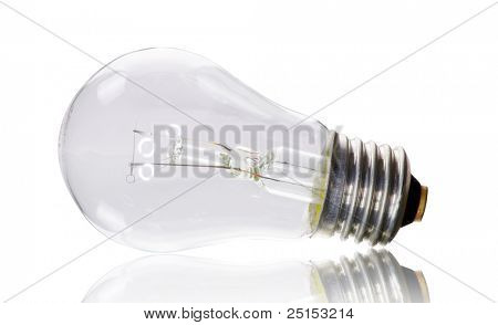 Electric bulb  on a white background