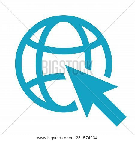 Go To Web Icon Isolated. Modern Flat Pictogram, Business, Marketing, Internet Concept. Trendy Simple
