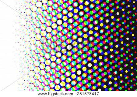Print Banner, Abstract Printing Background, Cmyk And Rgb Vector Background, Subtractive And Addictiv