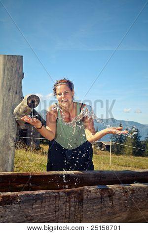 Enjoying Fresh Mountain Water