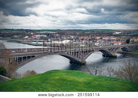 Royal Tweed Bridge, The Concrete Road Bridge Across The River Tweed Between Berwick-upon-tweed And T