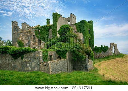 Clifden Castle, Ruined Castle on the Sky Road, Connemara, Ireland