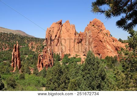 National Park Garden Of The Gods In Usa