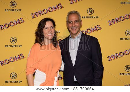 CHICAGO - JUL 25: Mayor Rahm Emanuel (R) and Caroline Kiely attend Refinery29's