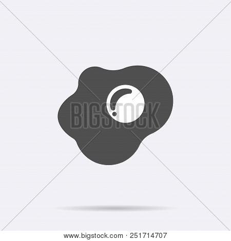 Fried Eggs Icon Vector. Flat Food Symbol Isolated On White Background. Trendy Internet Concept. Mode