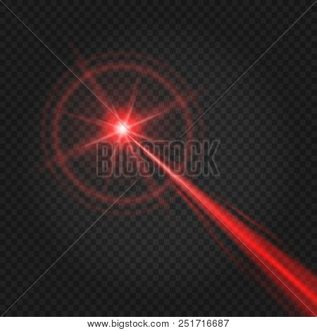 Laser Beam. Abstract Lasers Light For Security And Scanner Effect, Vector High Lighted Beam Isolated