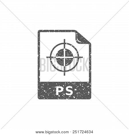 Tif File Format Icon In Grunge Texture. Vintage Style Vector Illustration.