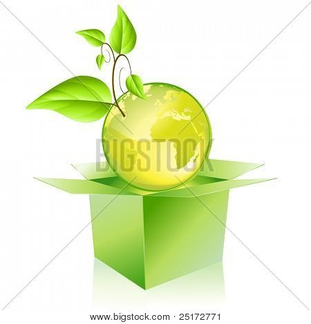 Green planet getting out of the box