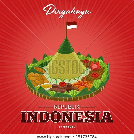 Dirgahayu Is Greeting To The Republic Of Indonesia On 17 August. Independence Day Of The Republic Of