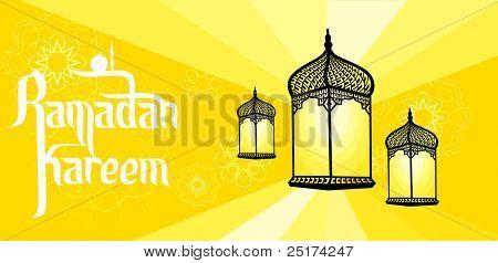 Illustration of ramadan lantern
