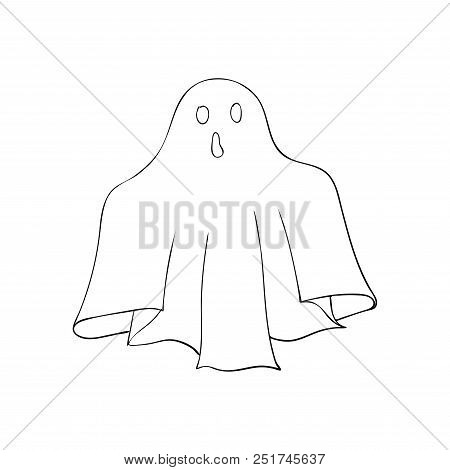 Ghost symbol of Halloween. Spook character of horror. Mystical Nightmare Isolated poster