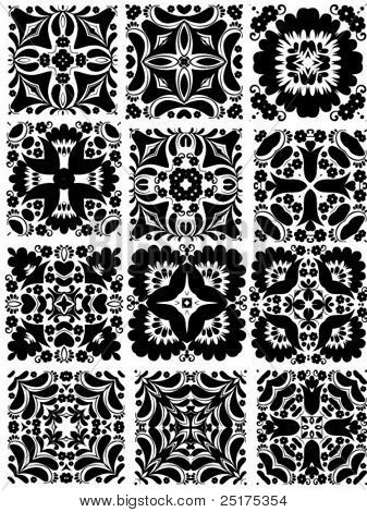 square vector patterns