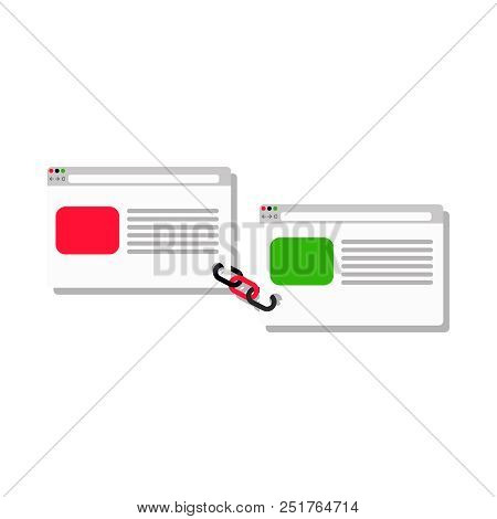 Link Building Service - Link Business Flat   Two Pages Are Connected By A Chain