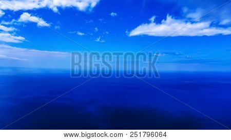 No Borders Between Sky And Ocean. View From The Highest Cliff In Europe - Cabo Girao, Madeira, Portu