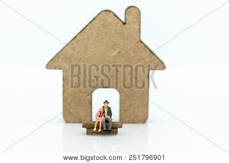 Miniature People : Business On Financial Transactions For Home Loan. Image Use For Invesment, Busine