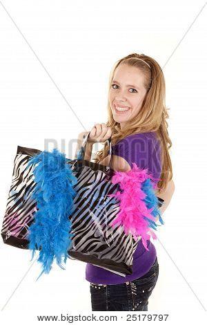 Girl Shopping Bag Smile
