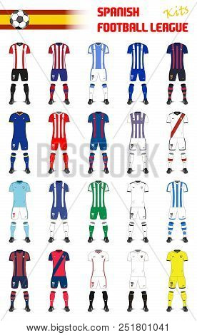 Set Of Spanish Football League Generic Kits