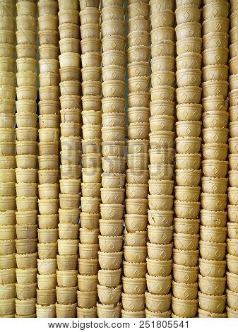 Waffle Cones Ice Cream Background.