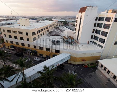 Honolulu, Hawaii - January 12, 2016: Aerial View Of The Dole Cannery Building On Island Of Oahu In T