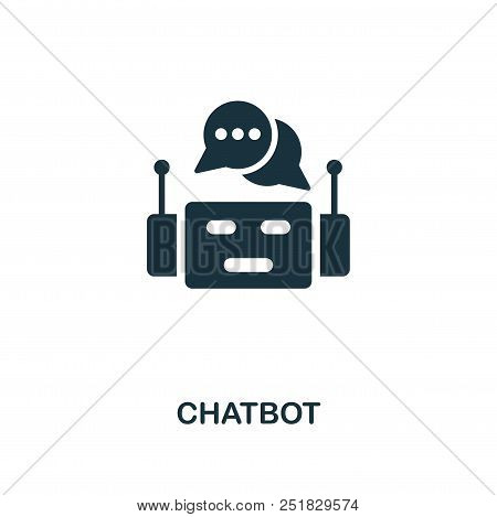 Chatbot Creative Icon. Simple Element Illustration. Chatbot Concept Symbol Design From Contact Us Co