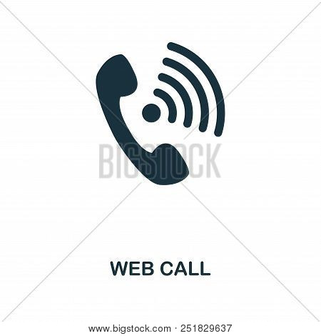 Web Call Creative Icon. Simple Element Illustration. Web Call Concept Symbol Design From Contact Us