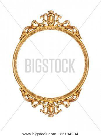 Golden antique frame poster