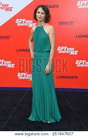LOS ANGELES - JUL 25:  Miriam Novak arrives to 'The Spy Who Dumped Me' Los Angeles Premiere  on July 25, 2018 in Hollywood, CA