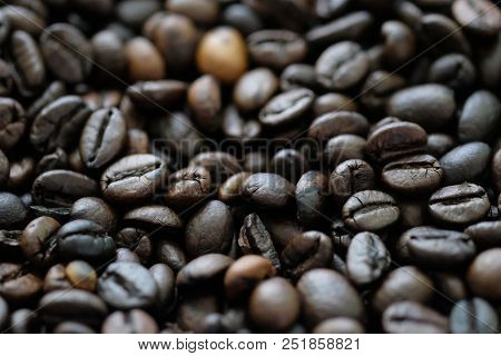 Coffee Beans Closeup Background Seamless Texture Stock Photo