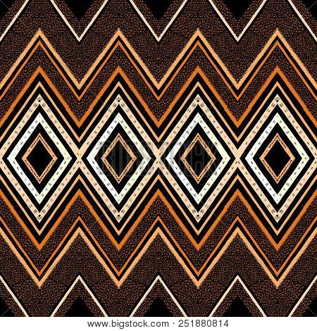 Abstract Zigzag Pattern For Cover Design. Retro Chevron Vector Background. Geometric Decorative Seam