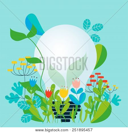 Take Care Of The Environment And The Earth Loving The Garden And Nature - Vector Conceptual Illustra
