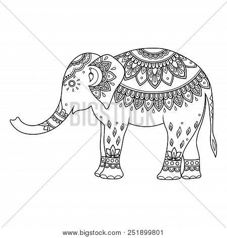 Elephant Decorated Vector & Photo (Free Trial) | Bigstock