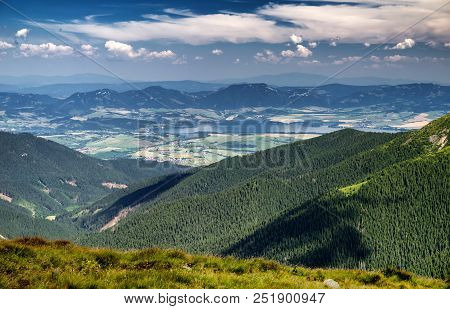 Beautiful Mountain Landscape - Lake Liptovska Mara From Low Tatras Mountains, Slovakia