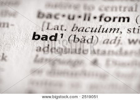 Dictionary Series - Philosophy: Bad