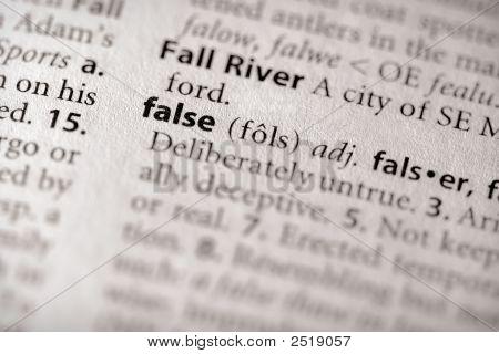 Dictionary Series - Philosophy: False