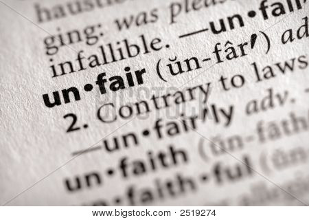 Dictionary Series - Philosophy: Unfair