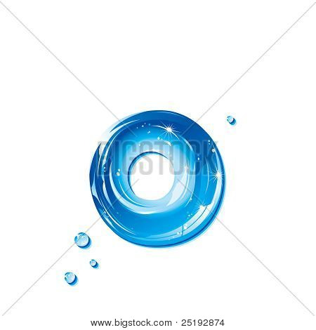 ABC series - Water Liquid Letter - Small Letter o