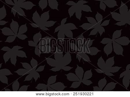 Autumnal Leaves Seamless Pattern. Vector Illustration For Stylish Background, Banner, Textile, Wrapp