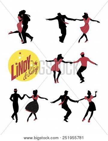 Young People Dancing Swing Or Lindy Hop