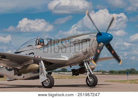 Eden Prairie, Mn - July 16, 2016: P-51 Mustang