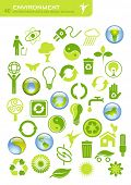 vector-set of 40 environmental icons and design-elements poster
