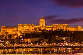Night Photo Of A Building In Budapest