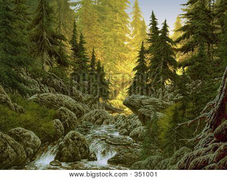 Cascade Mountain Stream