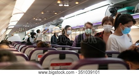 Bangkok, Thailand -14 February  2020: Coronavirus Infection Covid-19. Security Measures To Prevent I