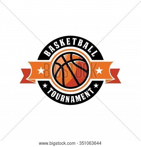 Basketball Logo, American Logo Sport, Basketball Logo Template Vector, Isolated On White Background,