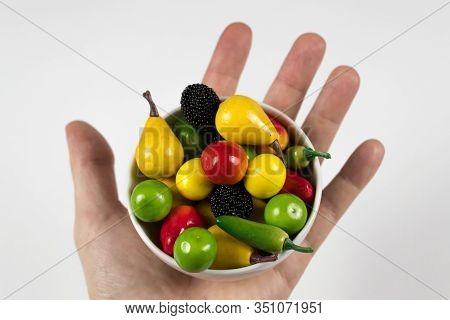 Eat Vitamins  Clsoeup Fruits Vegetables Represent Symbol Health  Need Save Table Food Life